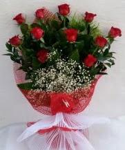 11 adet kırmızı gülden görsel çiçek  Konya hediye sevgilime hediye çiçek