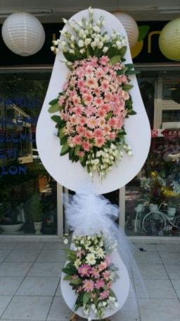 Çift katlı özel şahane sepet çiçeği  Konya anneler günü çiçek yolla