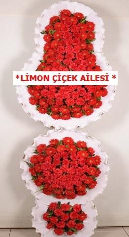 3 katlı kırmızı düğün açılış çiçeği  Konya 14 şubat sevgililer günü çiçek