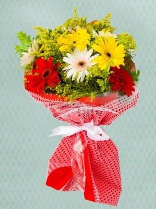 Karışık Gelbera Buketi  Konya güvenli kaliteli hızlı çiçek