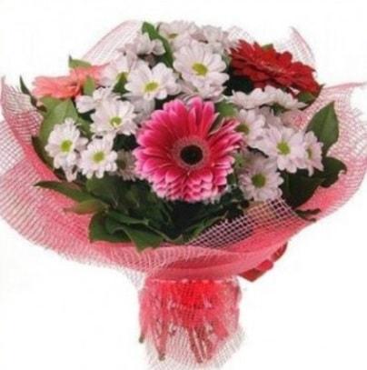Gerbera ve kır çiçekleri buketi  Konya çiçek yolla , çiçek gönder , çiçekçi