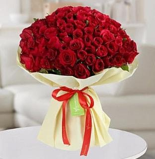 101 adet kırmızı gül buketi koca demet  Konya çiçek yolla , çiçek gönder , çiçekçi