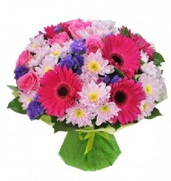 Karışık mevsim buketi mevsimsel buket  Konya hediye sevgilime hediye çiçek