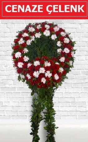 Kırmızı Beyaz Çelenk Cenaze çiçeği  Konya cicek , cicekci