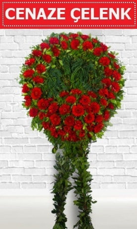 Kırmızı Çelenk Cenaze çiçeği  Konya cicek , cicekci
