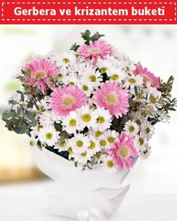 Papatya ve Gerbera Buketi  Konya çiçek online çiçek siparişi