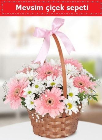 Mevsim kır çiçek sepeti  Konya çiçek online çiçek siparişi