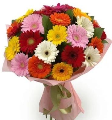 Karışık büyük boy gerbera çiçek buketi  Konya hediye sevgilime hediye çiçek